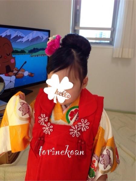 三歳の女の子、七五三